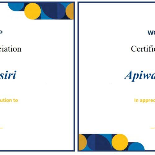 World Bank congratulates H&P lawyers: Mr. Apiwat Numbanteng and Mrs. Arisa Suwansiri
